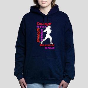 Woman Runner Women's Hooded Sweatshirt