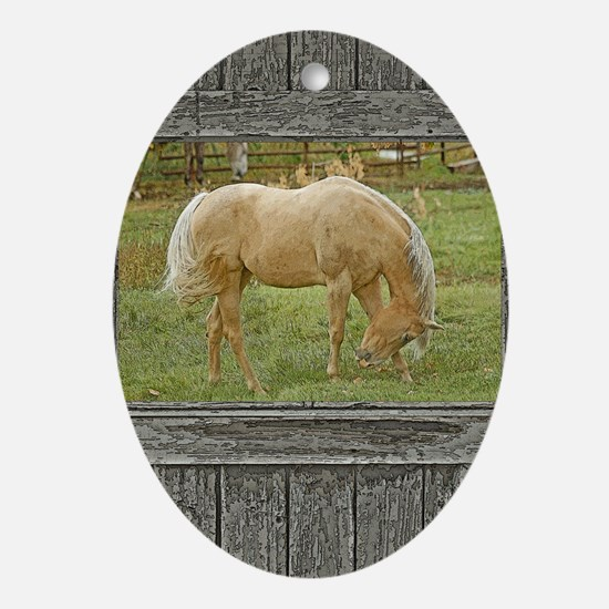 Cute Painted horse Oval Ornament
