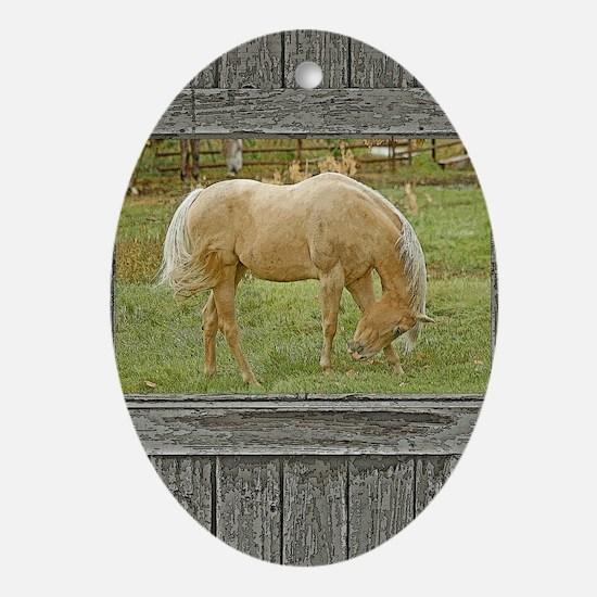 Unique Buckskin Oval Ornament