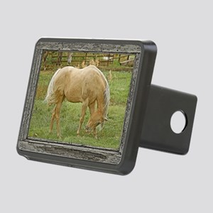 Wood window palomino Rectangular Hitch Cover
