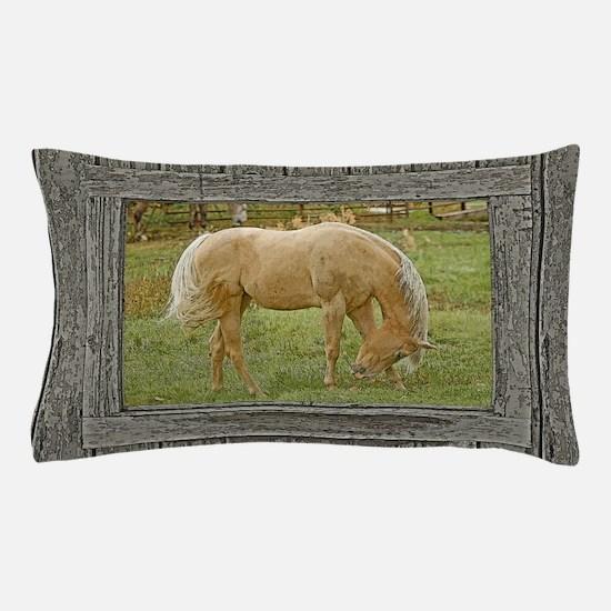 Wood window palomino Pillow Case