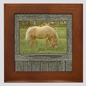 Wood window palomino Framed Tile