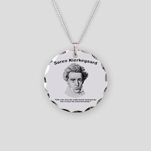 Kierkegaard Understood Necklace Circle Charm