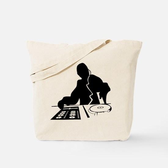 Dj Mixing Turntables Club Music Disc Jock Tote Bag