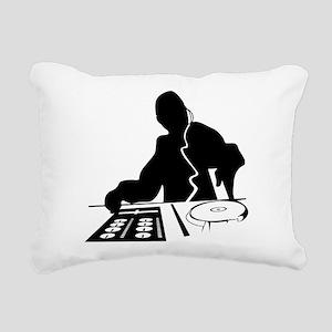 Dj Mixing Turntables Clu Rectangular Canvas Pillow