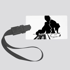 Dj Mixing Turntables Club Music Large Luggage Tag