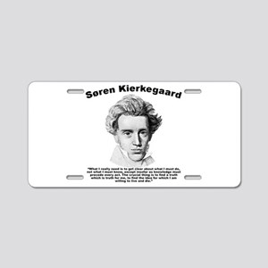 Kierkegaard Truth Aluminum License Plate