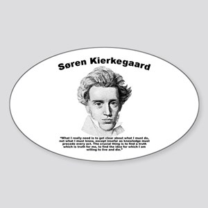 Kierkegaard Truth Sticker (Oval)