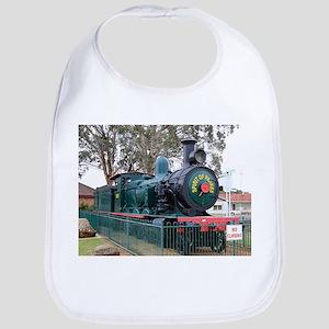 Steam train engine, Parkes, Australia Bib