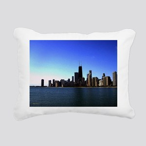 The Chicago Skyline in Feathered Art Rectangular C