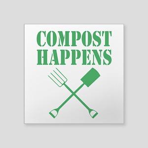 Compost Happens Sticker