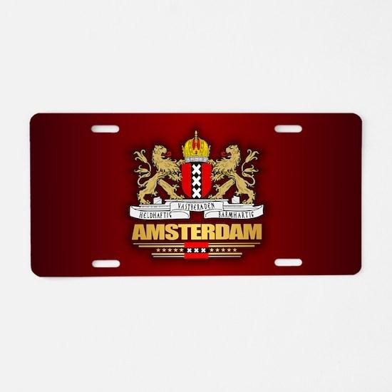 Amsterdam Aluminum License Plate