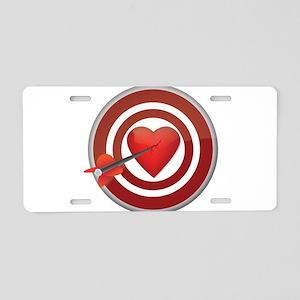Bullseye Aluminum License Plate