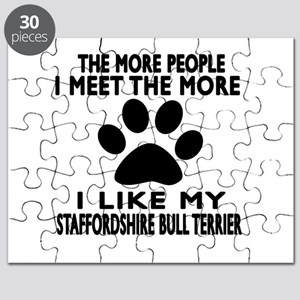 I Like More My Staffordshire Bull Terrier Puzzle