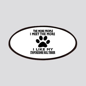I Like More My Staffordshire Bull Terrier Patch