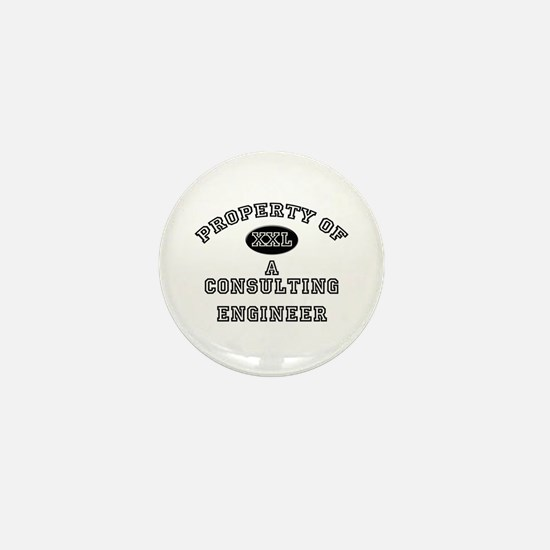 Property of a Consulting Engineer Mini Button