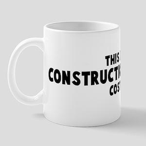 Construction Manager costume Mug