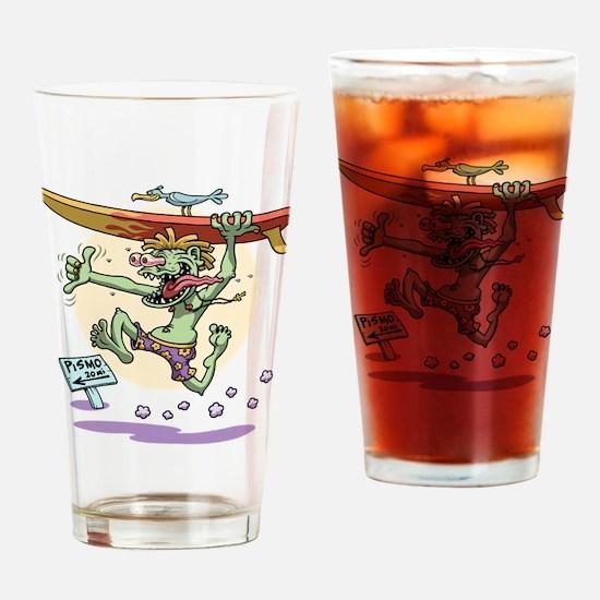 Surfin' Stu Drinking Glass