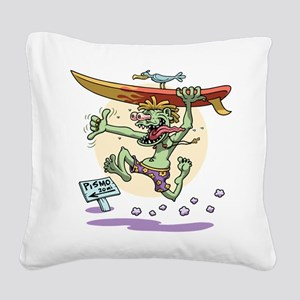 Surfin' Stu Square Canvas Pillow