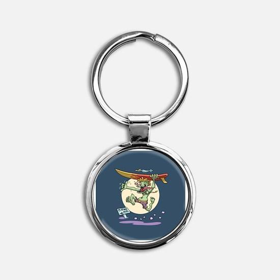 Surfin' Stu Round Keychain