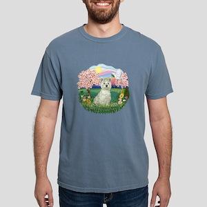 Blossoms-Westie 8 Mens Comfort Colors Shirt