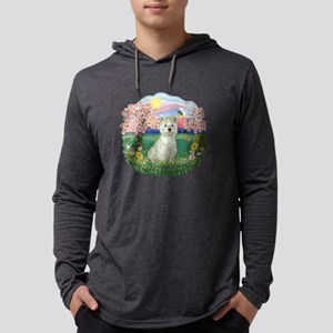 Blossoms-Westie 8 Mens Hooded Shirt