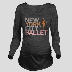 Ballet Long Sleeve Maternity T-Shirt
