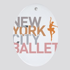 Ballet Oval Ornament