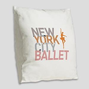 Ballet Burlap Throw Pillow