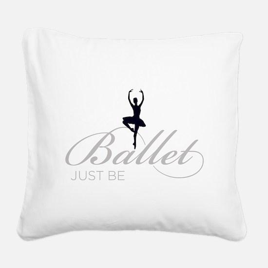 ballet Square Canvas Pillow