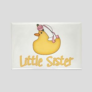 Yellow Duck Little Sister Rectangle Magnet