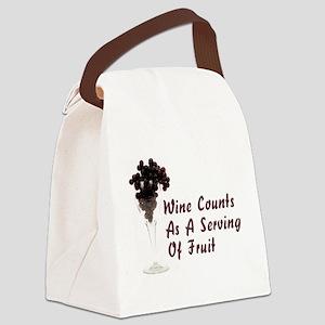 Wine Diet Canvas Lunch Bag