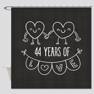 44th Anniversary Gift Chalkboard He Shower Curtain