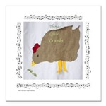 """""""Crumbs""""&Chicken Square Car Magnet 3"""" x 3"""""""