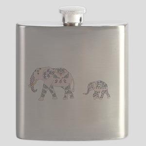Pink Elephant Parade Flask