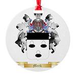 Meek Round Ornament