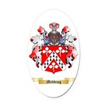 Medding Oval Car Magnet