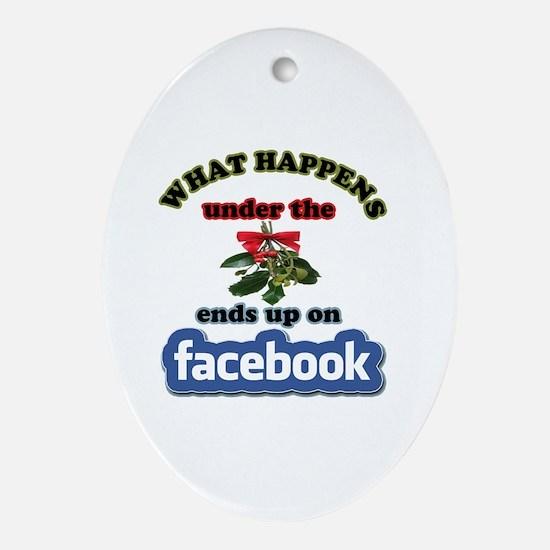 Cute Social media Oval Ornament