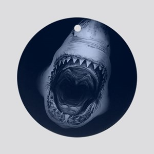 Big Shark Jaws Round Ornament