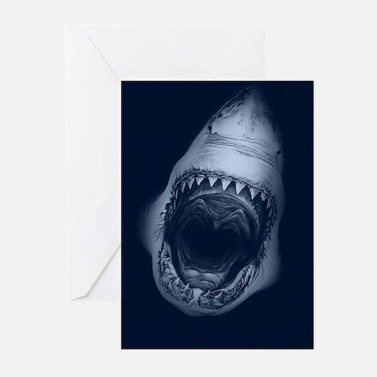Big Shark Jaws Greeting Cards