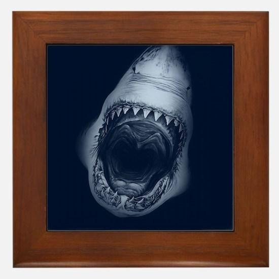 Big Shark Jaws Framed Tile