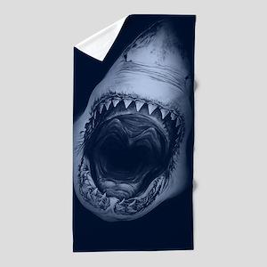 Big Shark Jaws Beach Towel