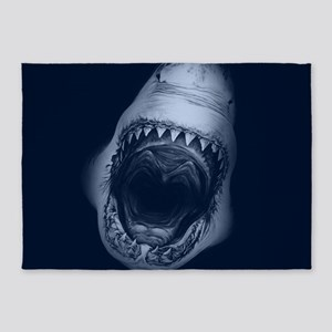 Big Shark Jaws 5'x7'Area Rug