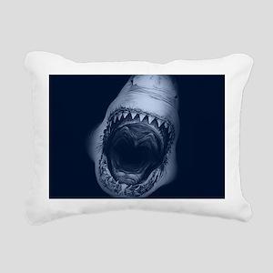 Big Shark Jaws Rectangular Canvas Pillow