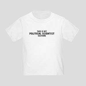 Political Scientist costume Toddler T-Shirt