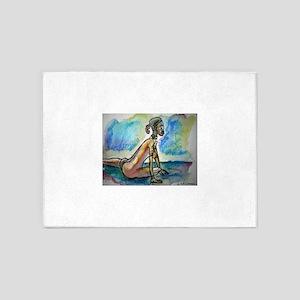 African, nude, art! 5'x7'Area Rug
