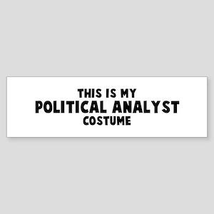 Political Analyst costume Bumper Sticker