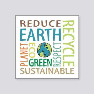"Earth Day Square Sticker 3"" X 3"""