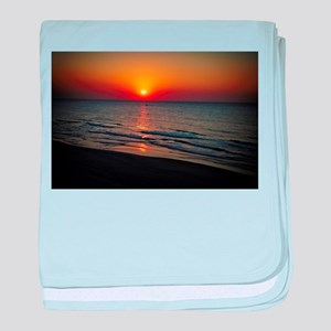 Bat Yam Beach baby blanket