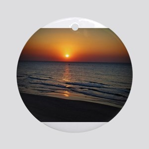 Bat Yam Beach Round Ornament